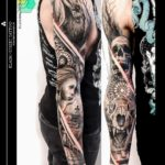 Gothic Sad Tattoo Sleeve