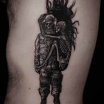 Hugging Skeletons Tattoo