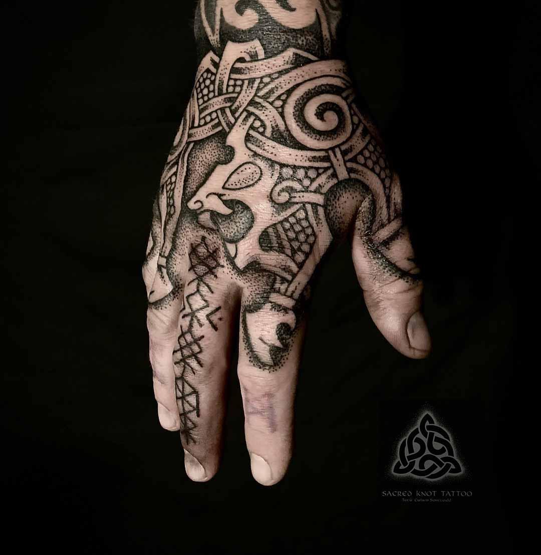 hand tattoo norse