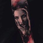 Passionate Girl Portrait Tattoo