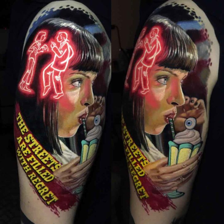 shoulder tattoo pulp fiction