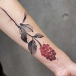 Raspberry Tattoo on Arm