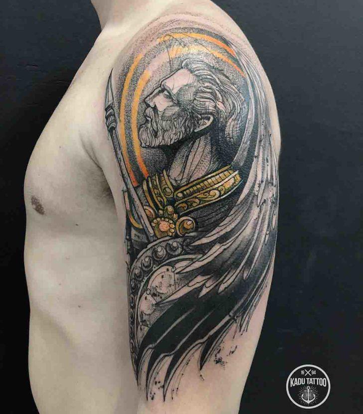 shoulder tattoo religious