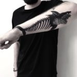 Shark Skeleton Tattoo