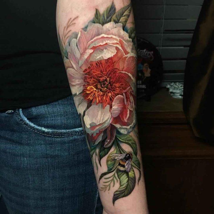 flower tattoo on arm