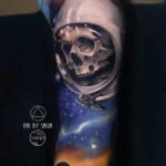 Space Skull Tattoo