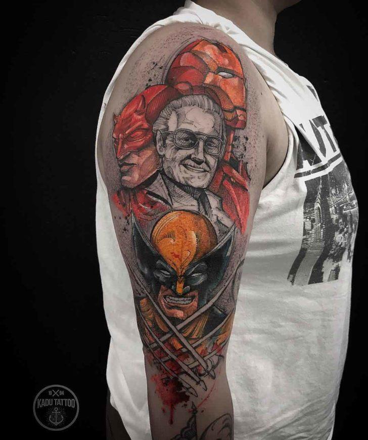tribute tattoo stan lee