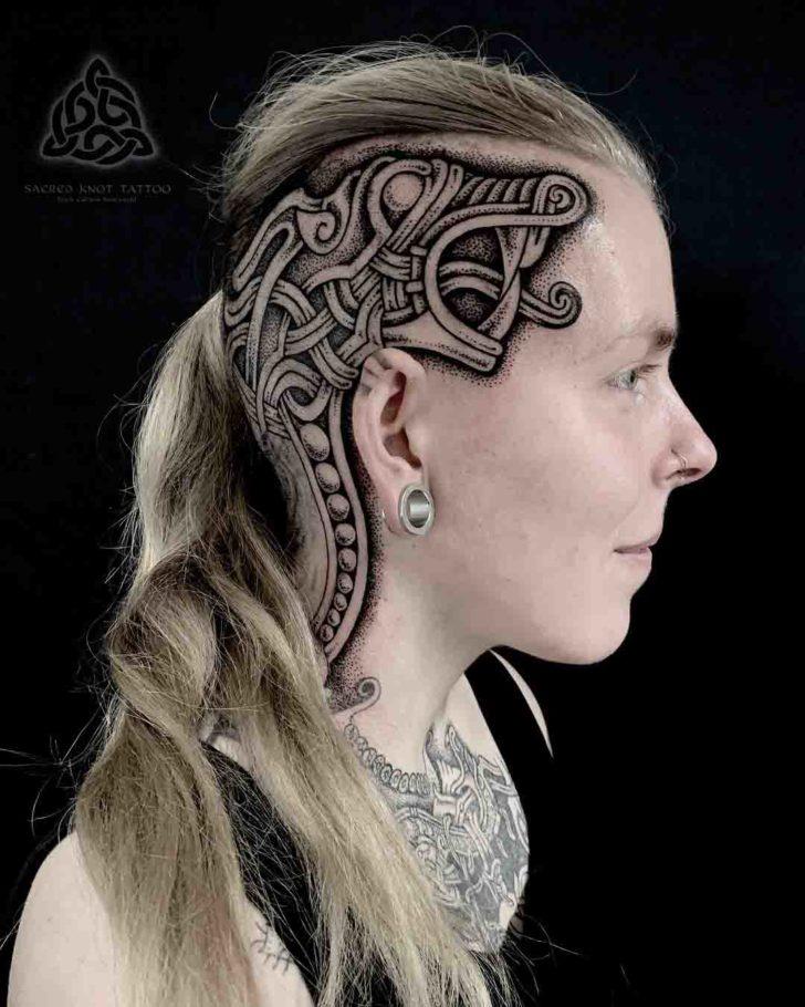 head tattoo celtic knot
