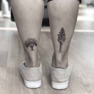Two Trees on Ankles Backs