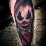 Tattoo of Clown on Calf